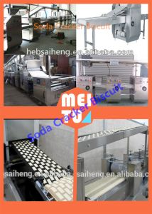 2015 Sh 750kg/H Hot Sale Large Capacity Full-Automatic Soda Cracker Biscuit Production Line pictures & photos