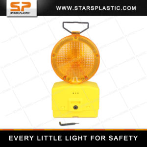 6V Battery LED Red / Yellow Warning Flash Barricade Light with Metal Bracket pictures & photos