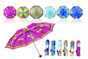 Straight Carton Printing Children Umbrella pictures & photos