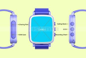 Colorful 1.44inch Screen Kids Phone Wrist Watch Mobile Cell Phone GPS Child Locator Watch pictures & photos