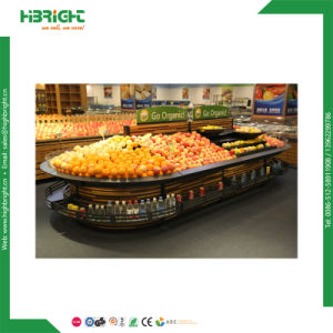 Wooden and Steel Supermarket Vegetable Stands pictures & photos