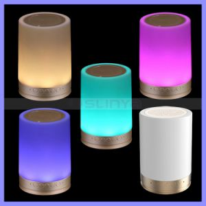HiFi Round Smart Touch Wireless Bluetooth Emotional Mood LED Warm Light RGB Bluetooth Speaker pictures & photos