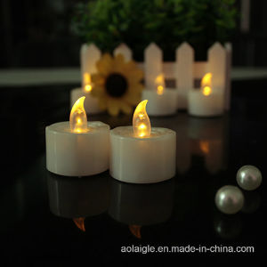 Birthday Gift Wedding Decoration LED Candle with Yellow Light