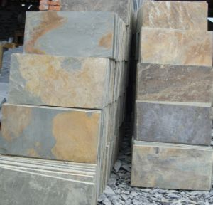 Cheap Rusty Slate Tile for Flooring/ Wall/ Paving Stone pictures & photos
