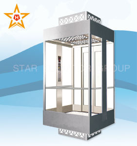 Observation Elevator with 4 Sides Glass Walls Xr-G20