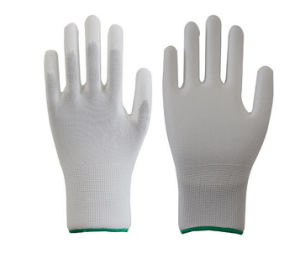 Knitted ESD Carbon PU Top Fit Gloves Made in China pictures & photos