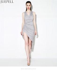 Spring and Summer Slits Barelegged Good Quality Evening Dress Costume Bridesmaid Dress Sexy Dress Slim Eom Custom pictures & photos