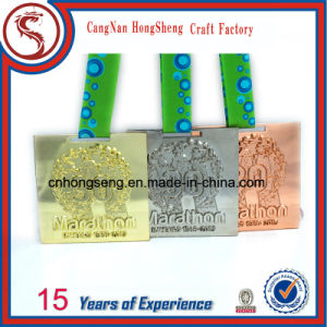 Newest Souvenir 3D Metals Medal with Customized Ribbon pictures & photos