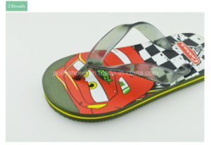 Plastic Cartoon Imprinted PE Child Flip Flop Sandal pictures & photos