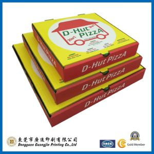 Yellow Paper Pizza Packaging Box (GJ-Box099) pictures & photos