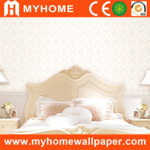 Floral Wallcovering White with Non-Woven pictures & photos