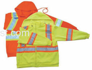 High Visibility Safety Warmer Hoodie with Polar Fleece for Winter pictures & photos