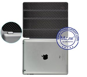 Hot Trending Products Carbon Fiber Smart Back Case Cover for Apple iPad 2 3 4 pictures & photos