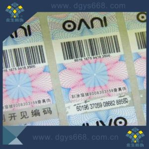 Custom Barcode Number Laser Sticker Printing pictures & photos