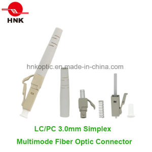 LC PC 3.0mm Simplex Multimode Fiber Optic Connector pictures & photos