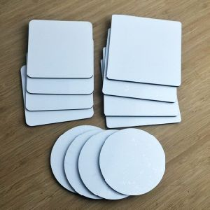 Imprintables Round Cork Wood MDF Hardboard Sublimation Drink Coasters
