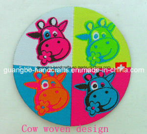 Lovely&Colorful Cow Clothing Woven Design Patches (CC-102) pictures & photos