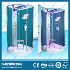 Deluxe Blue Color Computerized Shower Room with Towel Bar and Seat (SR217G) pictures & photos