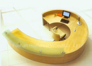 Modern Beauty Shop Counters and Reception Desk Design (HF-LTE407) pictures & photos