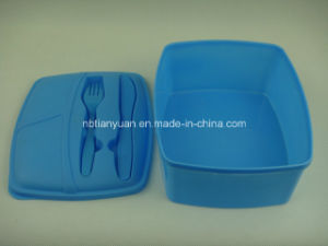 Food Storage Container with Spoon and Fork pictures & photos