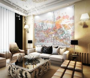 3.2m Width Seamless 3D Wallpaper for Digital Printing pictures & photos