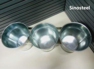 3 Set of Circular Galvanized Metal Bucket pictures & photos
