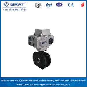 Flange Connection Wcb Electric Regulating Ball Valve pictures & photos