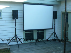 8′x8′ Tripod Projection Screen Portable Projector Screen for School pictures & photos