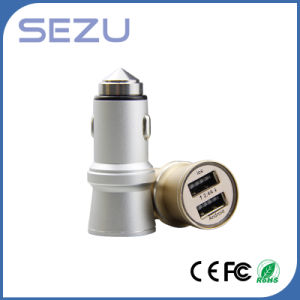 Hot Sale  Dual USB Emergency Car Charger with Metal safety Hammer for Mobiles pictures & photos