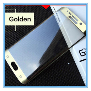 3D 9h Curved Edge Tempered Glass Screen Protective Film for Samsung S6 Edge (Electroplate) pictures & photos