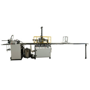 Automatic Feeding, Gluing & Positioning Machine with Black/White Conveyor Belt (YX-6418C) pictures & photos