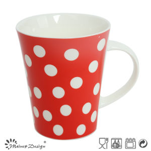 12oz Ceramic Coffee Mug with Dots pictures & photos