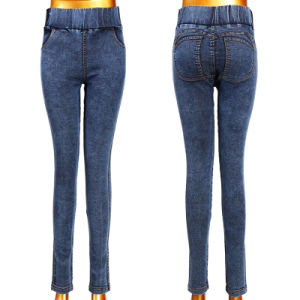 Hot Hip Push up Lady Jeans pictures & photos
