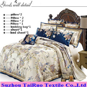Palace Style Bedding Set of Jacquard Satin Fabric for Home pictures & photos