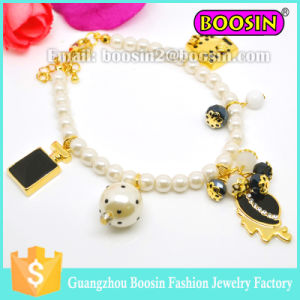 Fashion Lady′s Austrian Sapphire Crystal Charm Bracelet/Golden Plated Crystal Rosary Bracelet pictures & photos