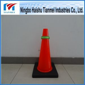 New PVC Red Traffic Safety Cone with Black Base pictures & photos