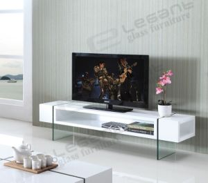 MDF TV Stand, with Tempered Glass Leg (T1010) pictures & photos