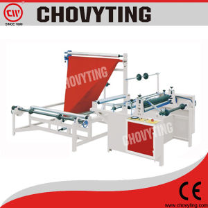 High Speed Plastic Film Folding Machine and Rewinding Machine pictures & photos