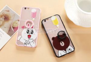 5.5inch 5.0 Inch Mobile Phone Cartons Design Cases Cute Case with Holder for iPhone 5 5s 6 6s Plus Samsung S6 S7 Edge pictures & photos