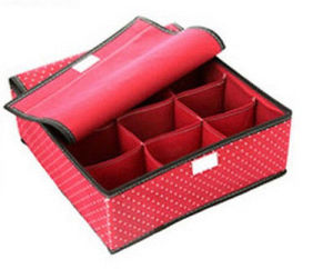 Polyester Material 9-Grid Storage Folding Box pictures & photos