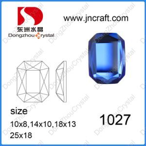 Dz-1027 Machine Cut Mirror Capri Blue Octagon Glass Beads for Jewelry pictures & photos