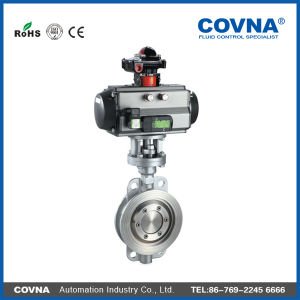 DC12V Wafer Connected Stainless Steel Pneumatic Butterfly Valve pictures & photos