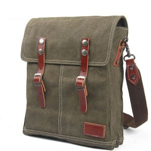 Full Grain Leather Strap Bag Export Shoulder Canvas Bag (RS8586B) pictures & photos