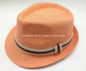 Orange Color Fedora Hats with Elastic Band (CPA_60235) pictures & photos