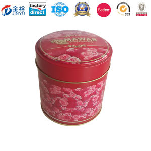 Embossing Rose Printed Round Shaped Tea Box Wholesale pictures & photos