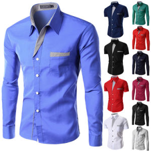 Men′s Double Collar Contrast Dress Shirts (A449) pictures & photos