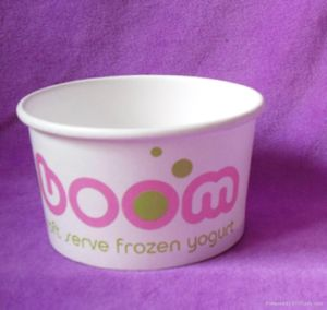 Custom Paper Ice Cream Cup with Spoon pictures & photos