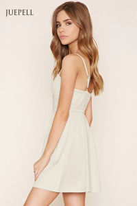 Hot Sale Linen-Blend Cami Dress pictures & photos