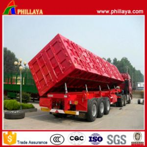 3 Axles Side Tipper Semi Trailer for Transporting Coal pictures & photos