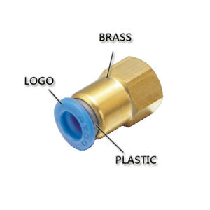 Blue Button Pneumatic Low-End Brass Fitting (PC 8-02) pictures & photos